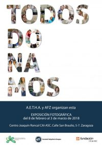"""Exposición Fotográfica """"TODOS DONAMOS"""". Asociación de Enfermos y Trasplantados Hepáticos de Aragón (A.E.T.H.A.) y la Asociación de Fotógrafos de Zaragoza (A.F.Z.)"""