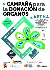 """La Asociación de Enfermos y Trasplantados Hepáticos de Aragón (A.E.T.H.A.) celebra el """"DÍA NACIONAL DEL DONANTE DE ÓRGANOS, TEJIDOS Y CÉLULAS"""""""