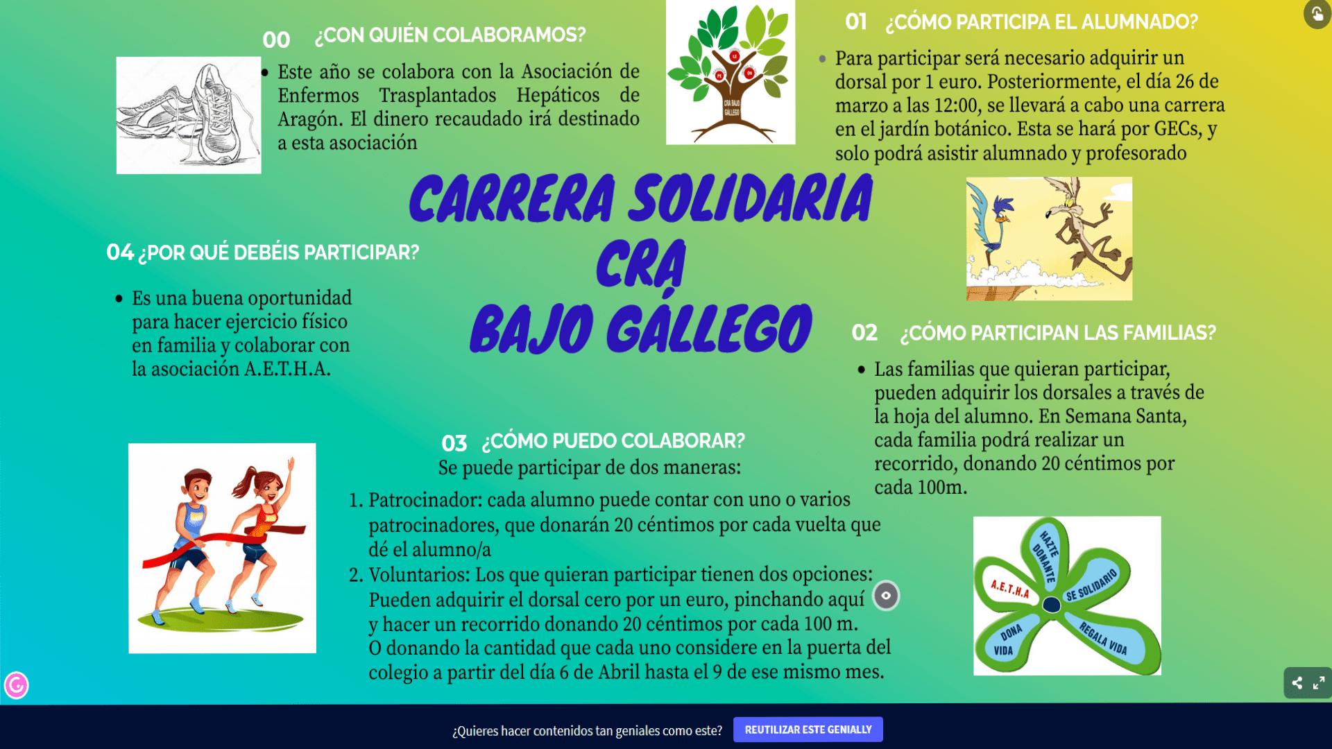 CARRERA SOLIDARIA CRA BAJO GÁLLEGO-AETHA